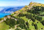 drone shots switzerland mountains