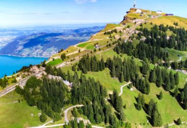 drone shots switzerland mountains